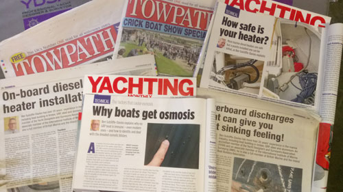 See our regular articles in Towpath Talk and Yachting Monthly